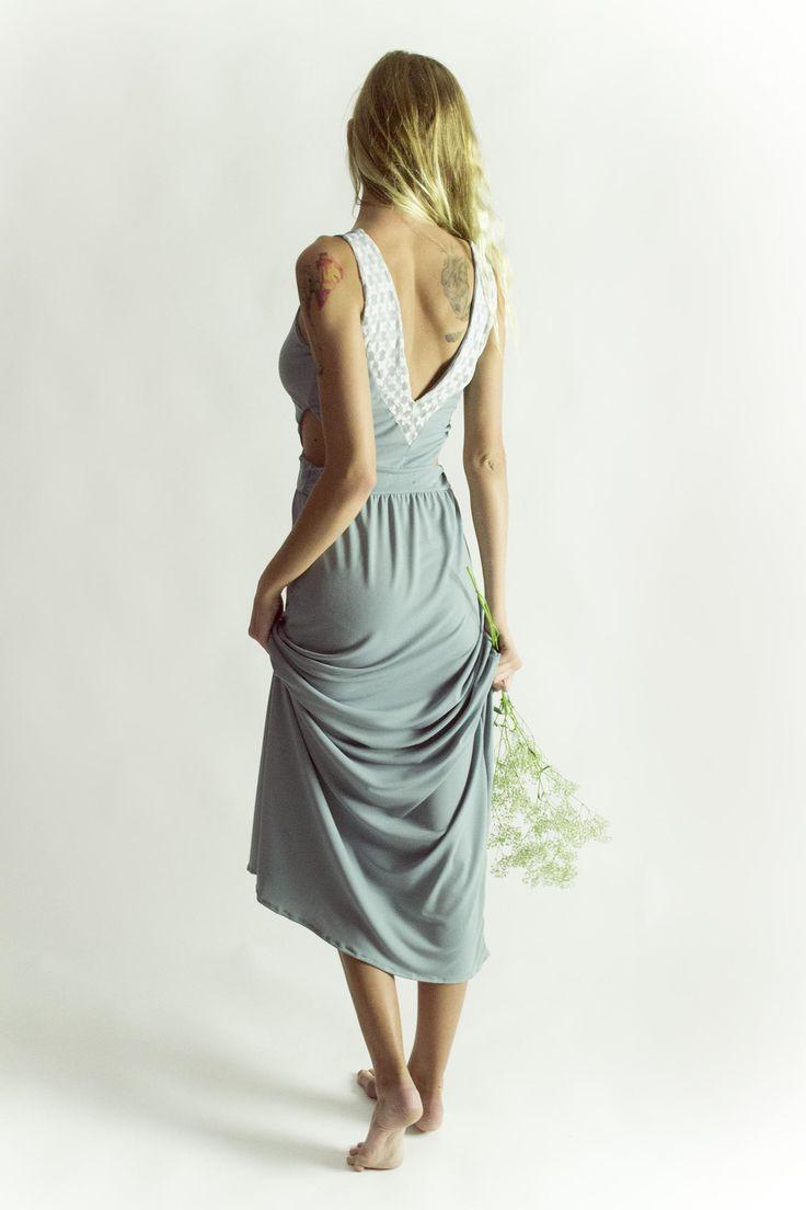 Powder maxi dress in mint
