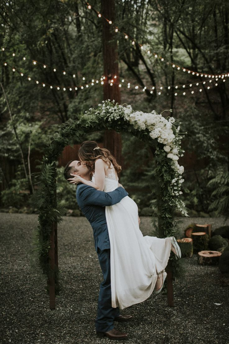 wedding arch - http://ruffledblog.com/romantic-redwoods-wedding