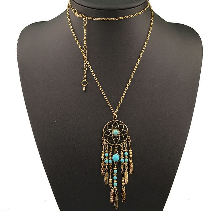 Kittenup New  Bohemia ethnic Jewelry Long sweater chain  Dream catcher Dreamcatcher Pendant necklace For Women HL0411