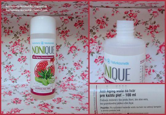 Hodnotenia kozmetiky: Nonique *voda na tvár pre každú pleť* Anti Aging