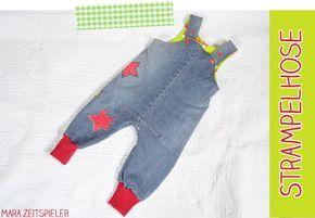 Kinderlatzhose aus alter Jeans nähen... sehr schön