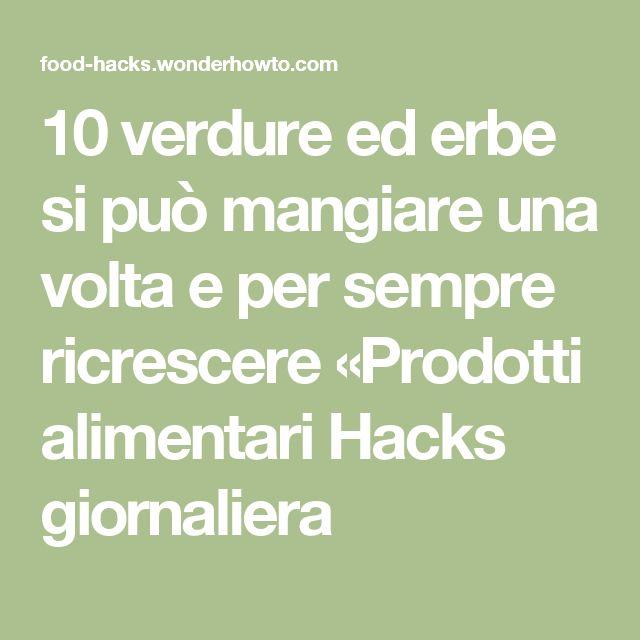 10 verdure ed erbe si può mangiare una volta e per sempre ricrescere «Prodotti alimentari Hacks giornaliera