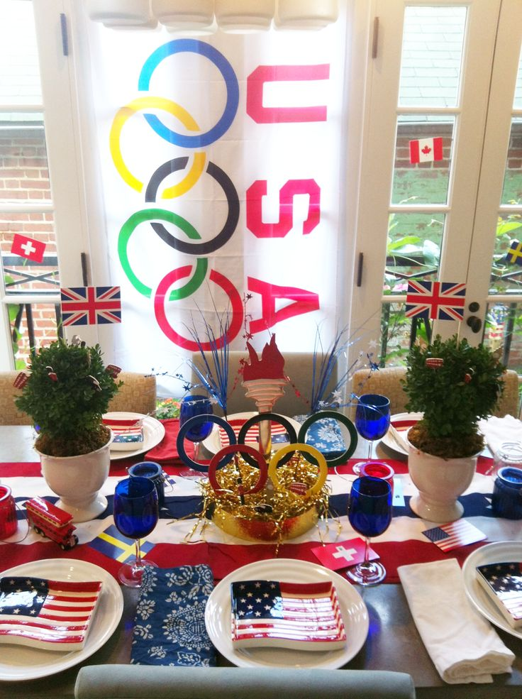 17 best images about olympic party ideas on pinterest for International party decor