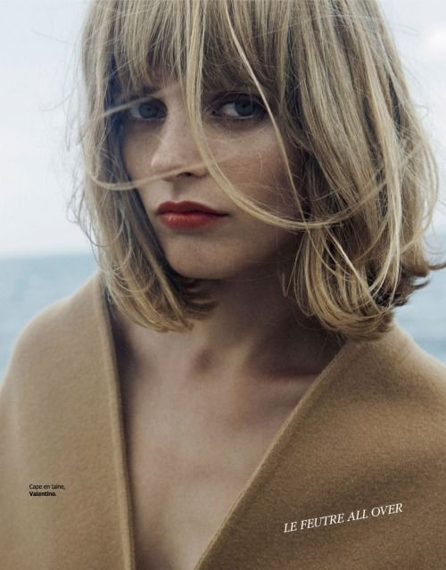 "blankforblack: ""L'automne À La Plage Mariska Van Der Zee By Alessandro Furchino For Grazia France 15th August 2014 """