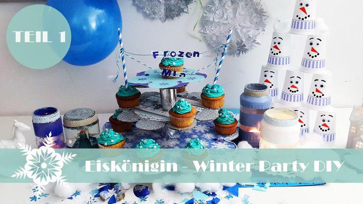 Eiskönigin Winter Party DIY Teil 1. | Olaf-Kegelspiel, Elsa-Schneekugel ...