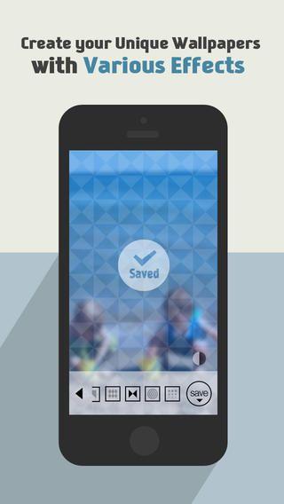 배경화면 메이커 for iOS 7 (발렌타인데이 패턴추가) thirtyFive Inc. 제작 무료 바탕화면 치고는 괜찮음 가로로 된 이미지 배경컬러를 바꾸지 못하는건 아쉬움