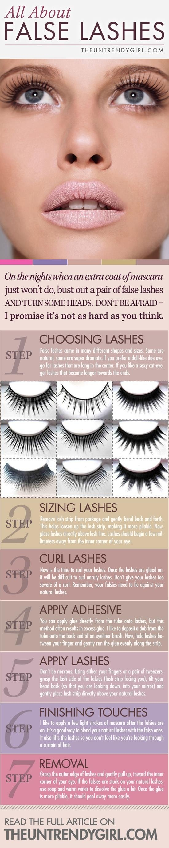 I love false Lashes! This may help you choose,apply  remove them.