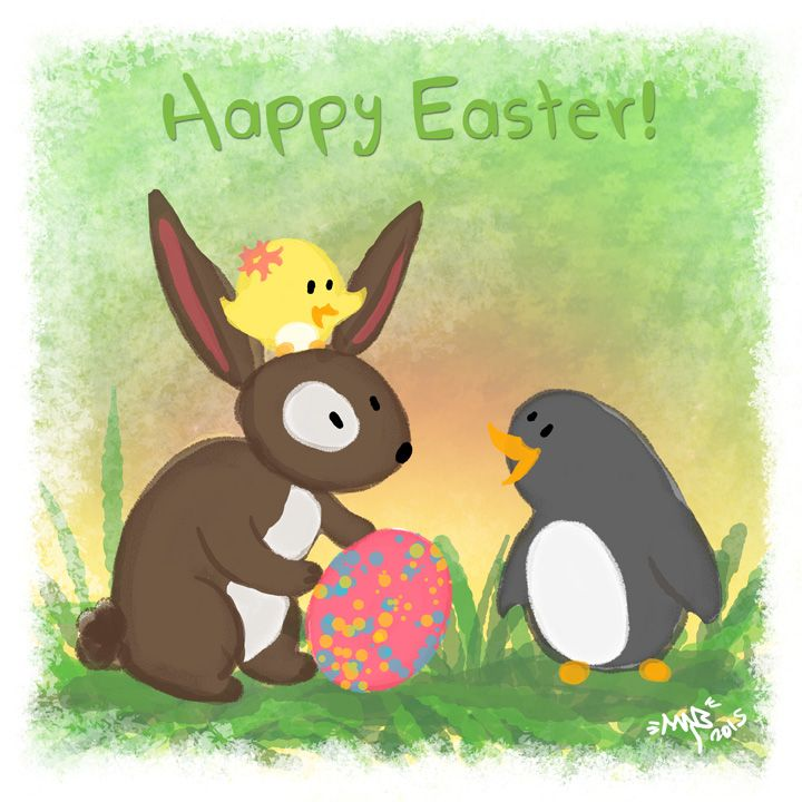 Happy Easter from Penguin & Peep!