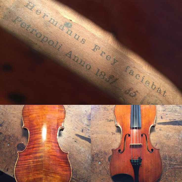 So it seems that this viola is not an early German maker in Brazil, but probably made in St. Petersburg, Russia. Still no knowledge of this maker but the hunt continues. #stpetersburg #unknownmaker #hermanfrey #viola #violin #cello #luthier #liuteria #lovemyjob