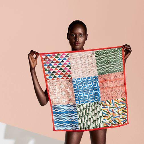 Our vintage silk 70 scarves