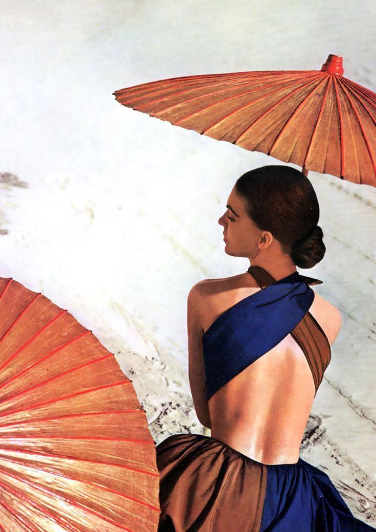 Virginia Stewart in Joset Walker´s sundress by Louise Dahl-Wolfe.