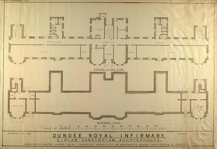 Floor plan. Sidlaw Hospital, Auchterhouse - the convalescent hospital of the DRI