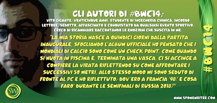 """#bwc14 Presentiamo ora Vito Gigante e il suo """"Gotoku Sakai, custode del destino"""", ovvero: i Mondiali scandiscono i tempi della nostra vita...  http://bit.ly/UME90X"""