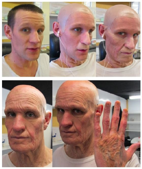 Behind the scene with matt smith prosthetics - Time of the Doctor