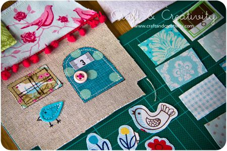 Dagens pyssel, tyghus – Craft of the Day, fabric houses | Craft & Creativity – Pyssel & DIY