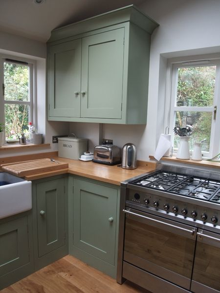 Painted White Cupboards