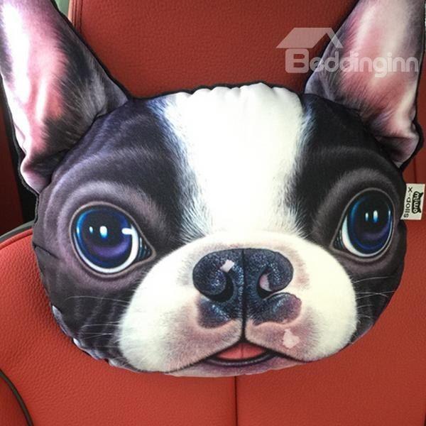 b95e492b3a64 Funny Personalized Bulldog Face Car Seat Pillows | Purrrfect Pet ...