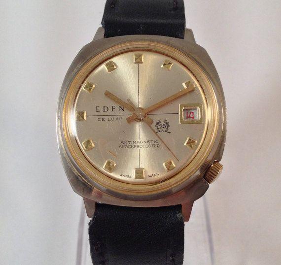 Old watch Eden Deluxe Vintage Wrist Watch by StonebrookVintage