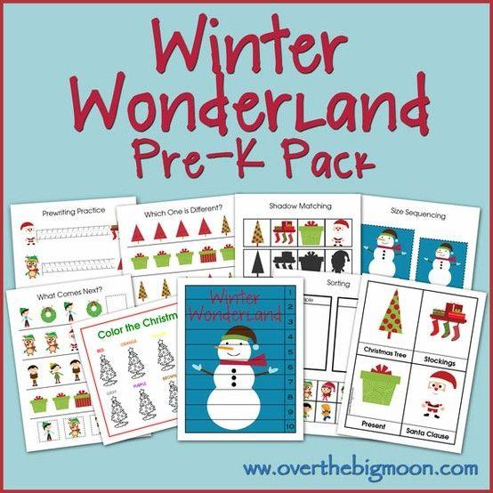Winter Wonderland Pre-K/Preschool/Tot Pack!  25 pages of fun Winter themed preschool activities! by Cornwche