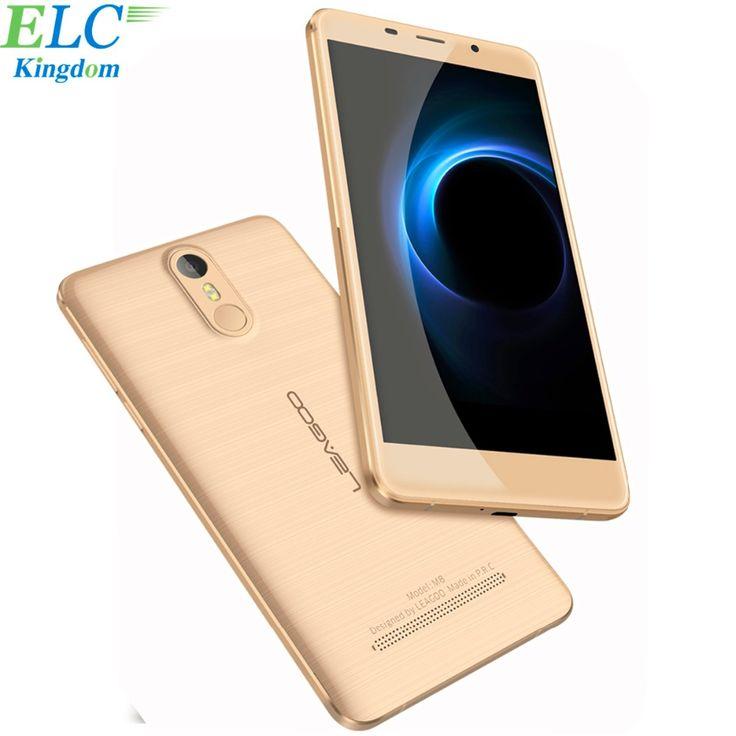 Original Leagoo M8 Smartphone 5.7 inch IPS HD MT6580A Quad Core 1.3GHz Cellphone 2GB+16GB 3500mAh Fingerprint ID Mobile Phone