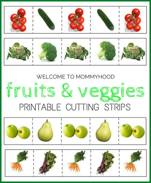 Free fruits and vegetables cutting strips | Montessori ...