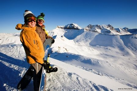 Banff skiing and snowboarding.