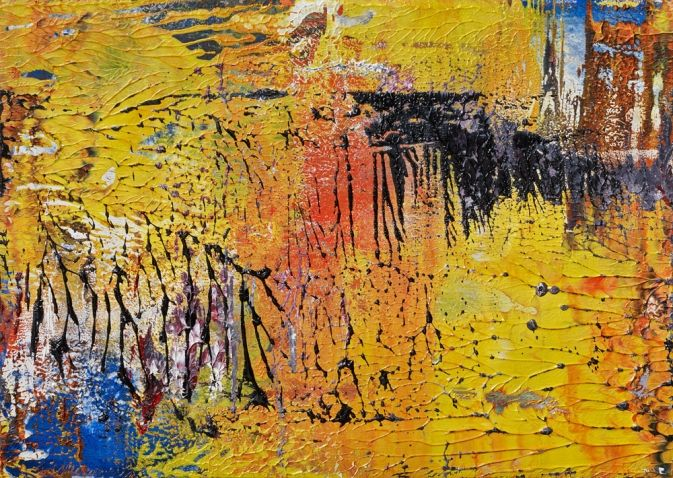 Gerhard Richter, 17.4.89, 1989. Oil on card. 29.5cm H 42cm W.
