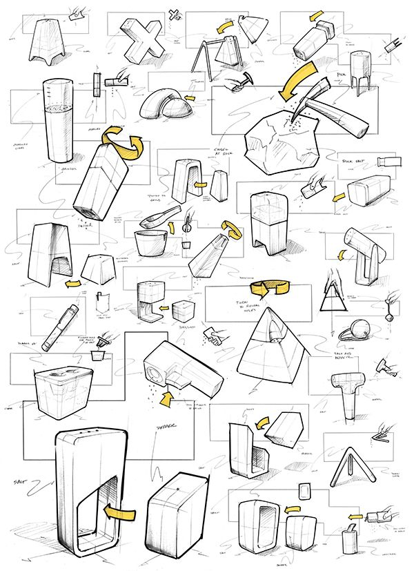 Sketche we like / Pencil Sketches / Exploration / Shapes / Salt + Pepper on Behance