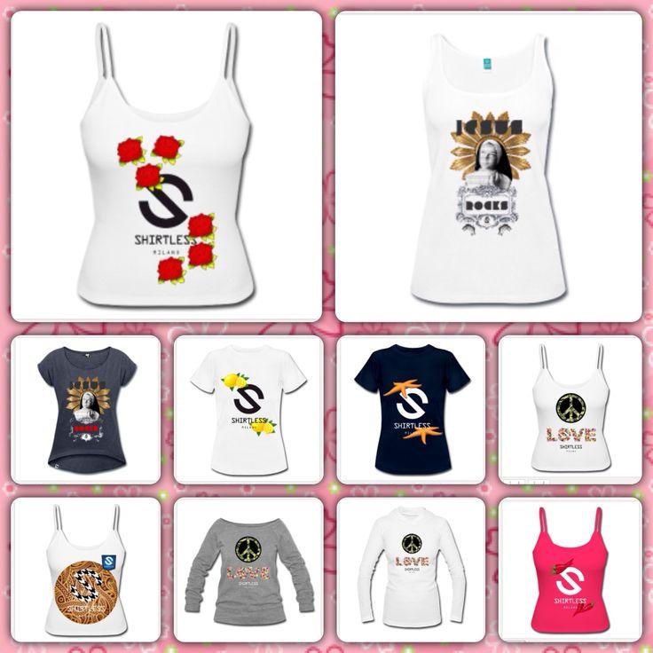 WOMEN SHIRTLESS TSHIRTS! All available here: WWW.SHIRTLESSMILANO.COM Follow us on FB: https://www.facebook.com/shirtlessCLOTHING  Instagram: SHIRTLESSMILANO