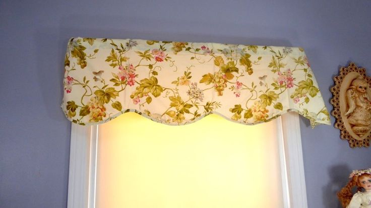 Waverly Valance, Floral Valance, 50 X 17, Curtain, Window Covering