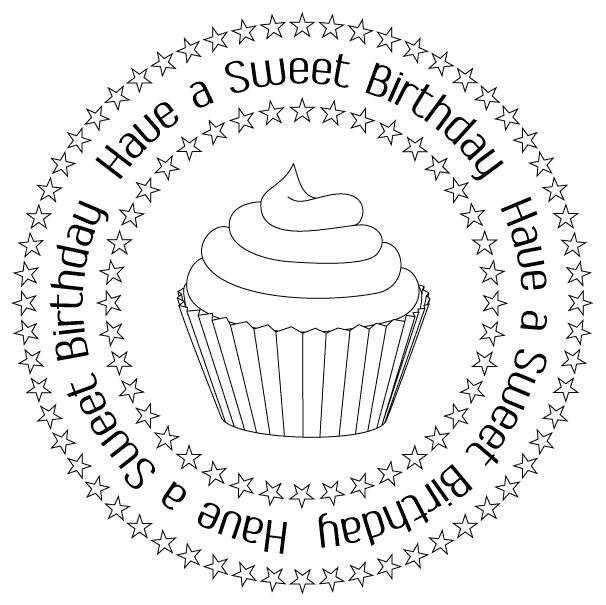 frase, cumpleaños, pastelito