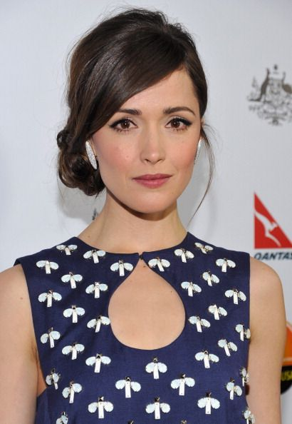 Rose Byrne Wearing a side chignon.