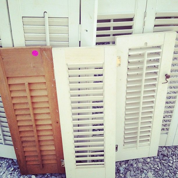 Best 25 shutter wall ideas on pinterest shabby chic - Best spray paint for exterior shutters ...