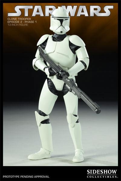 Figura Star Wars: Episodio II. Clone Trooper, 30cm. Sideshow Collectibles