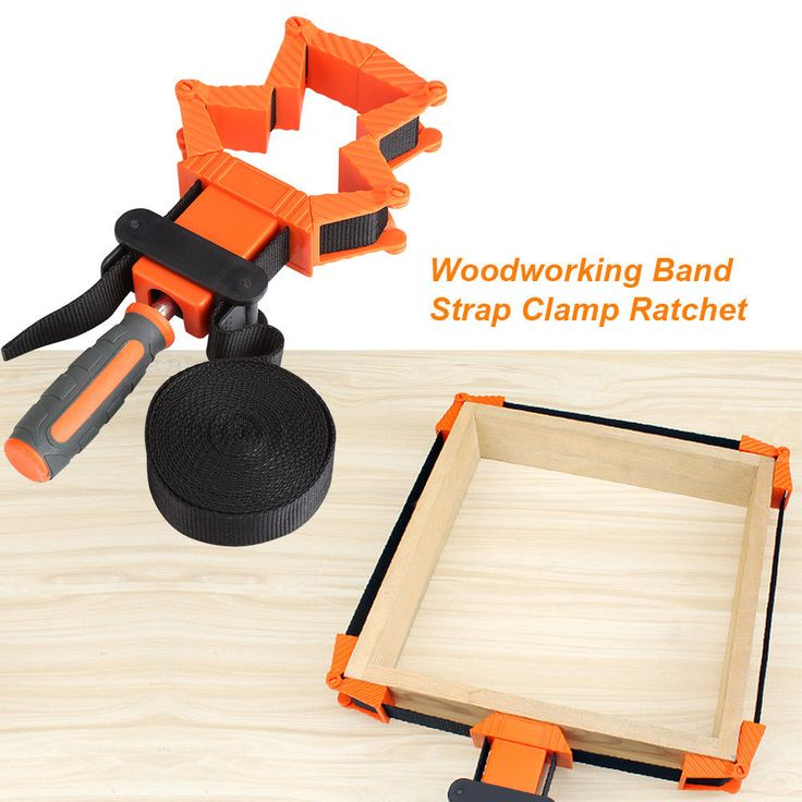 4M Picture Frame Woodworking Band Strap Clamp Ratchet Corner Miter Vise Tool