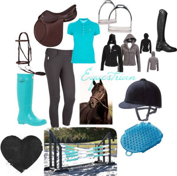 """""""Equestrian"""" by lmluvsjm on Polyvore Would prob change the helmet to a GPA or IRH though"""