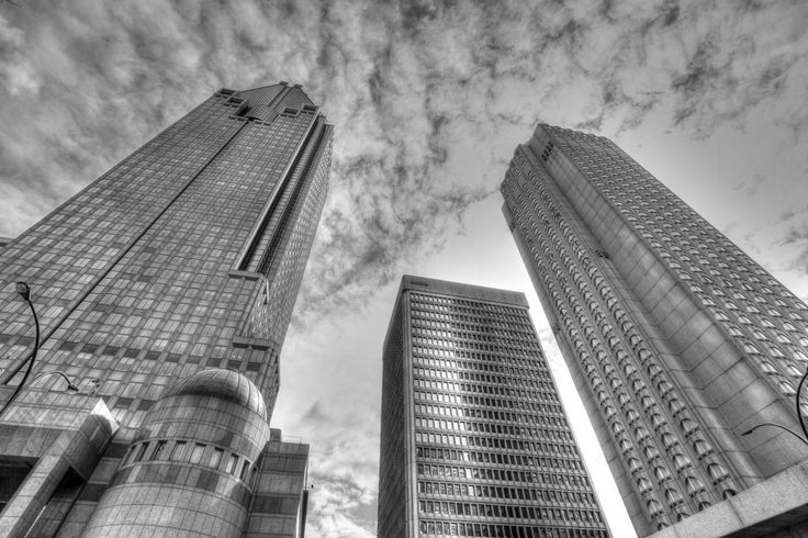Montreal Office towers using a 10-22mm Ultra-wide lens. B effect processed through Photomatix.