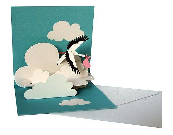 """Pop-up-card """"Stork"""""""