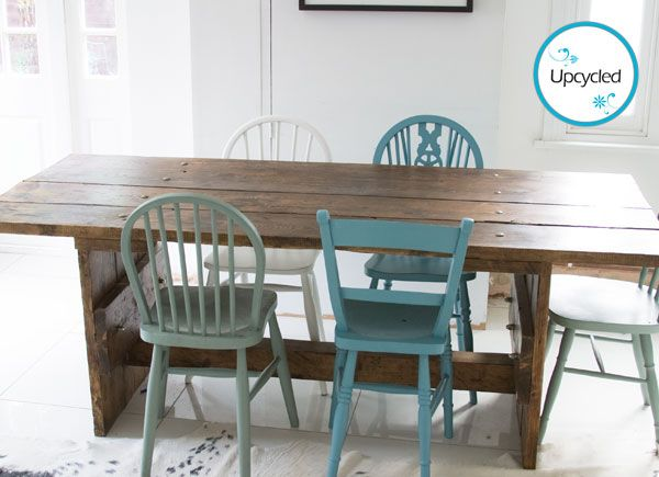 An Upcycled Scaffold Table available from The Other Duckling. This fabulous handcrafted piece is made to order so you can choose the length to fit your living space.