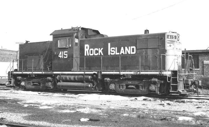 Rock Island Alco C415 415 at Blue Island, Illinois, November 28, 1969. Photographer unknown.