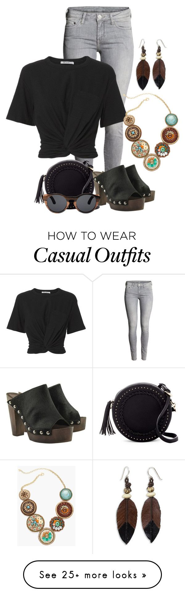 """""""Wood You Stay Forever? - Casual"""" by crazy4orcas on Polyvore featuring H&M, Urban Expressions, T By Alexander Wang, Finlay & Co., Chico's and NOVICA"""