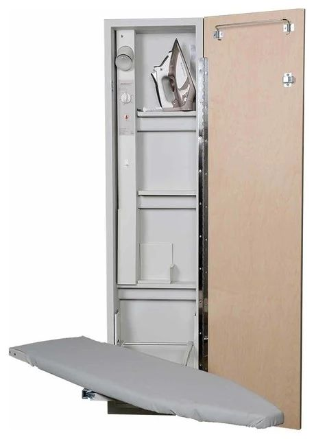 Premium Swivel Ironing Center, Raised White Door - Contemporary - Ironing Boards - by IRON-A-WAY