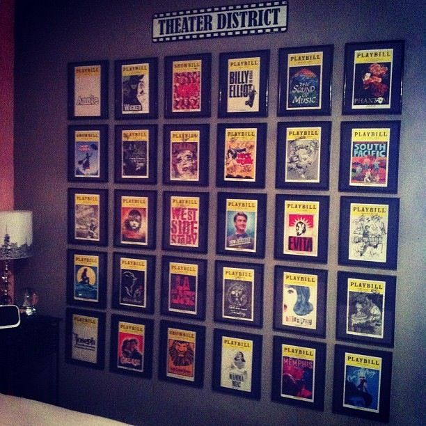 Broadway Theatre Playbill Wall