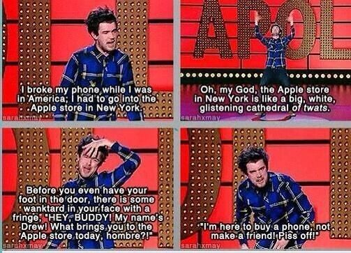 When he perfectly summed up how it feels to go into an Apple store. | 19 Times Jack Whitehall Totally Out-Bantered Everyone