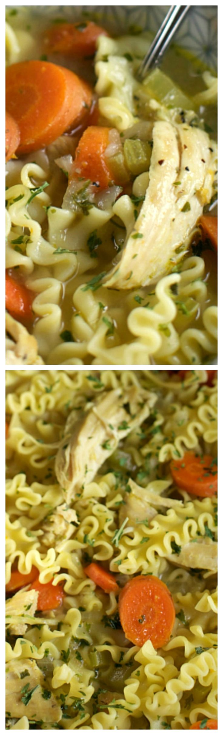 30 Minute Quick Chicken Noodle Soup ~ Quick, easy and hearty