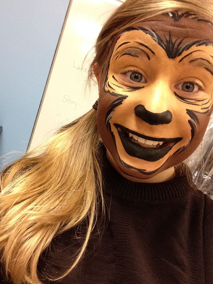 I was a monkey in our Christmas production and this is my makeup!