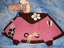 Detské oblečenie - Ružovo hnedý svetrík - 5029149_