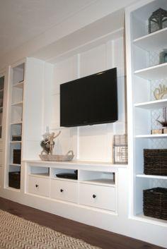 builtins made from ikea hemnes furniture no design basement update