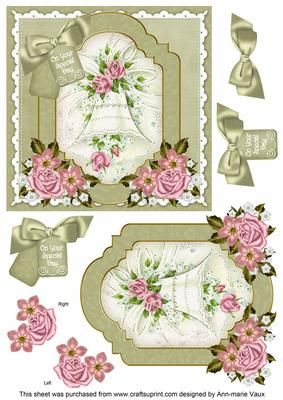 Wedding Bell Special Day 6in Floral Step by Step by Ann-marie Vaux I have designed these gorgeous step by step toppers as 6inch squares and they have up to 5 layers that can be used to make the topper. The step by steps are easy and quick to make, great for craft fairs and you simply cut out the main image and attach to your card as a base, then build up the layers using 3D foam. Each step by step topper has the co-ordinating insert available so please take time to have a look. Lots of…