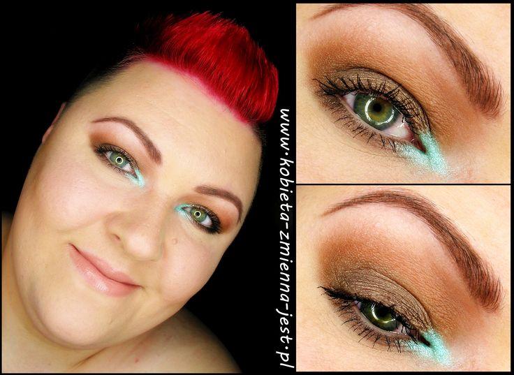 makijaż makeup Makeup Revolution Naked Chocolate brąz mięta mint brown makeupblogger blog real foto face